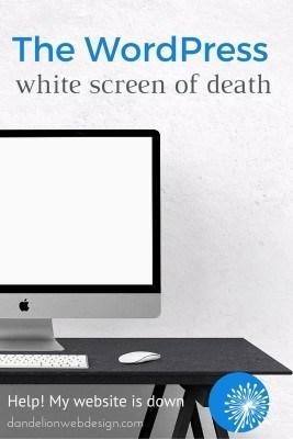 The WordPress white screen of death. Help my website is down